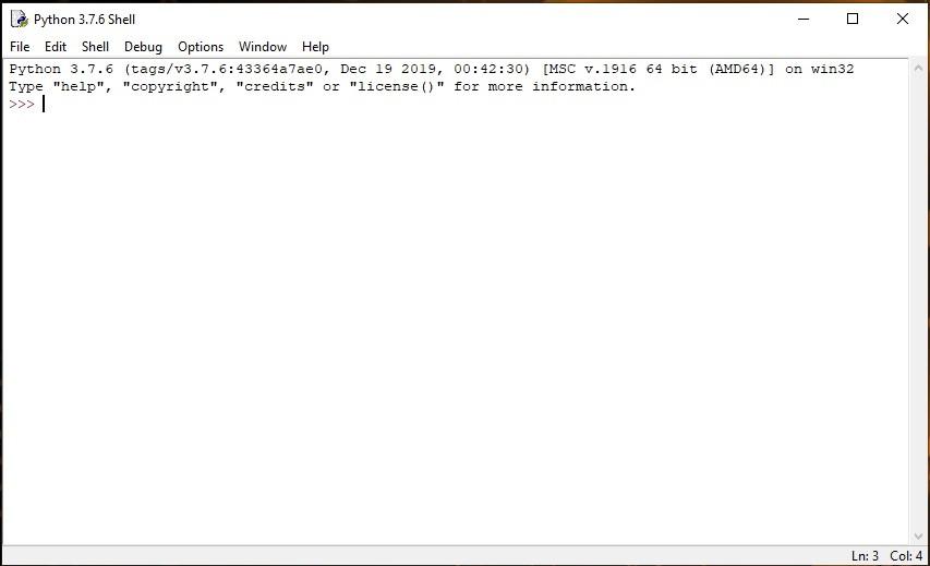 Установка Python.