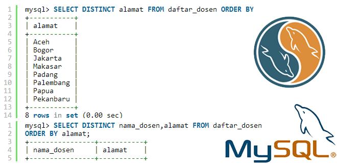 Оператор SQL: DISTINCT.