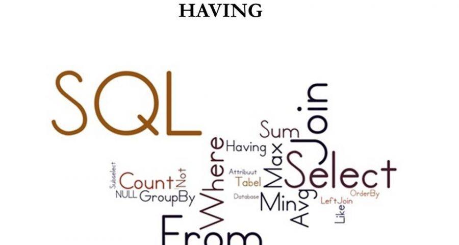 Оператор SQL: HAVING.
