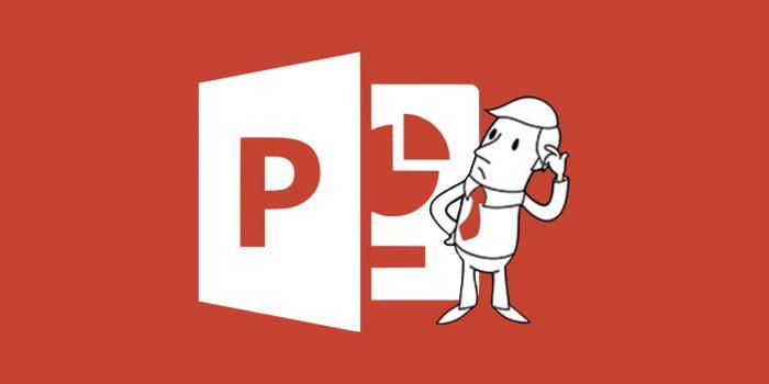 Лента задач в Microsoft PowerPoint.