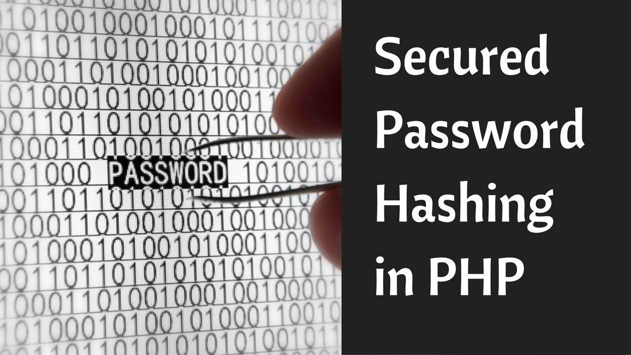 Безопасное хеширование паролей в PHP.