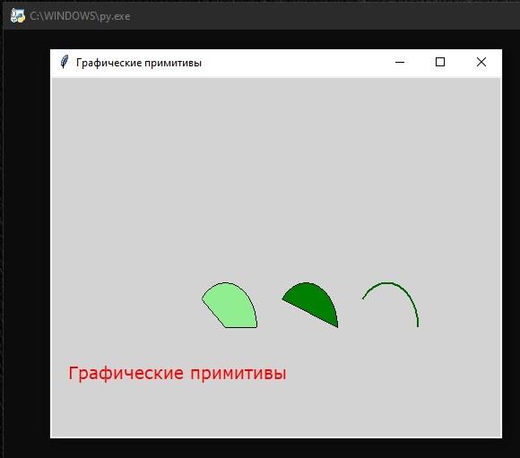 Библиотека Tkinter: Графические примитивы