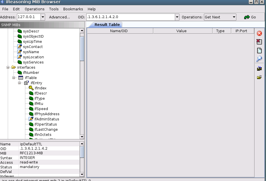 Обзор iReasoning MIB browser