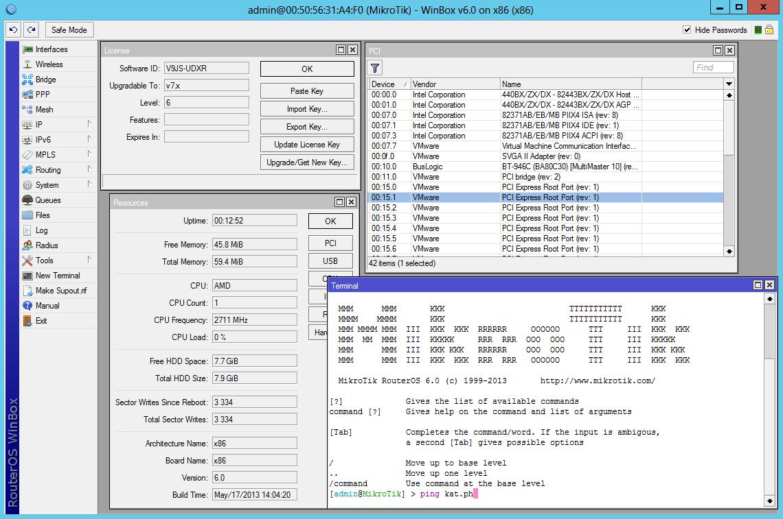 Установка Router OS на VirtualBox + установка WinBox