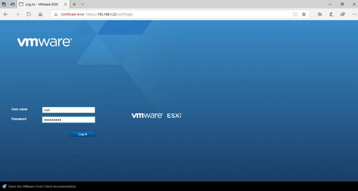 Установка Router OS на VMware ESXi