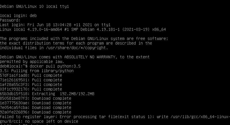 Решение проблемы при установке нового контейнера в Docker
